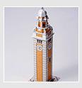 Papercraft building de la Torre del Reloj de China. Manualidades a Raudales.
