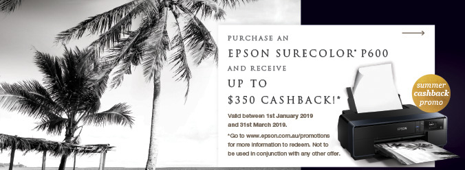 Epson SureColor P600 Up To $350 Cashback Promotion